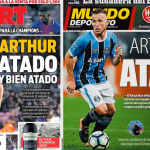 Jornais catalães destacam acordo do Barcelona com o Grêmio por Arthur